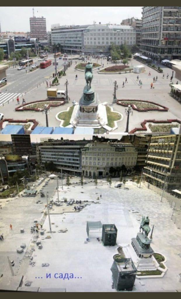 Весић и екипа уништили Трг Републике у Београду (фото) 2