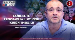 ИНТЕРВЈУ: Зоран Ћирјаковић - Лажне елите представљају отуђени и цинични имбецили! (видео) 2