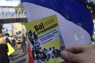 Нереди на улицама Париза на Дан пада Бастиље (видео) 1