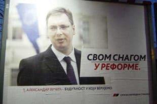 За цепање плаката са Вучићевим ликом казна 10.000