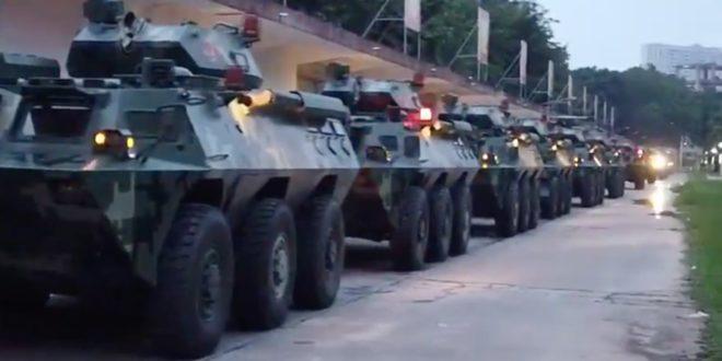 Kинеска војска пред Хонгконгом (видео) 1