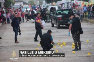 Мексико: 17.000 људи убијено у првој половини 2019. (видео)