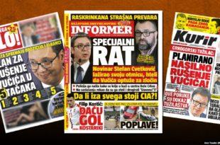 Режимски таблоиди у Србији: Дебеле паре за масне лажи