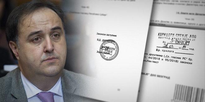 Зоран Бабић и више месеци након оставке обавља дужност директора Коридора Србије
