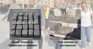 """Два пута реновирана """"гранитна коцка"""" на Тргу Републике се буквално распада (фото, видео) 10"""