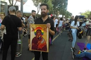 ВЕРСKА МРЖЊА? ЛГБТ активисти оскрнавили икону Богородице на геј маршу а СПЦ ћути као заливена?!