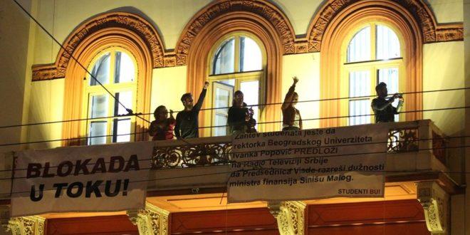 Студенти у блокади: Истераћемо плагијат Синише Малог на чистац 1