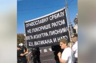 Монах Антоније: Народ нико није тукао, дођите да заједно бранимо православну Србију (Видео)