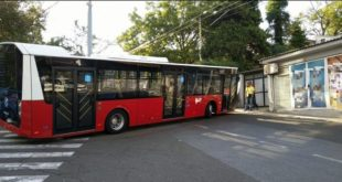 ВЕСИЋЕВИ АУТОБУСИ: Нови удес турског аутобуса, закуцао се у стуб, опет исти квар! 8