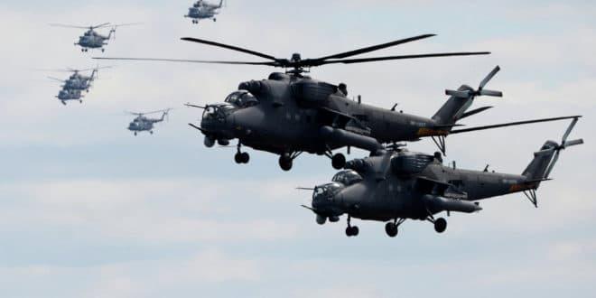 """""""Центар 2019"""": Више од 100 хеликоптера пребачено код Оренбурга (видео) 1"""