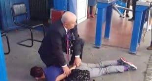 Крагујевац: Због перонске карте омлатио жену о бетон и забио јој колено у леђа (видео) 2
