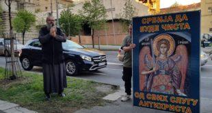 Полиција привела монаха Антонија због геј параде из 2018. године 7