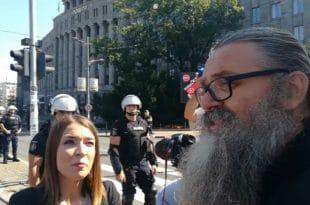 Београд: Интервју монаха Антонија Н1 у вези данашњих протеста који није објављен (видео)
