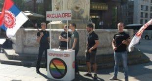 Похапшени активисти који су скупљали потписе против геј параде и лепили налепнице! Вучића називали педофилом... 6