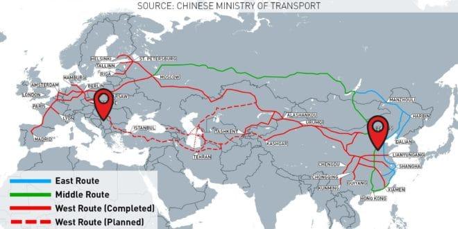 Теретни воз из Кине са опремом за брзу пругу стигао у Београд