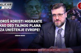 ИНТЕРВЈУ: Срђан Ного - Сорош користи мигранте као део тајног плана за уништење Европе! (видео) 1