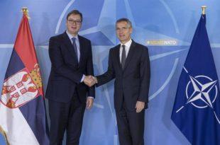 Столтенберг и Вучић: Заједничке војне вежбе Србије и НАТО само су врх леденог брега наше сарадње