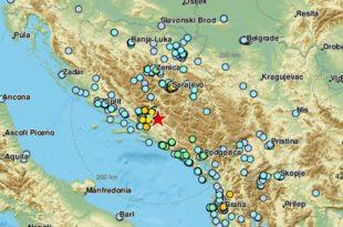 Земљотрес у Херцеговини, осетио се и у Београду у 10.20 часова (видео)