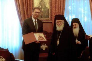 Ти Вучићу са Грцима можеш да будеш као прст на дупе али велика већина Срба није раме уз раме са њима!