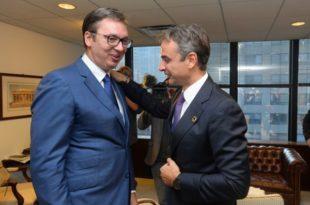 Мицотакис: Вучић је пристао да Србија преузме део мигранта из Грчке