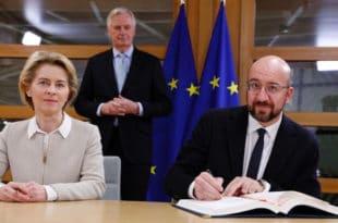 Председници Европске комисије и Европског савета потписали споразум о разлазу са Великом Британијом