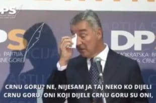 Мило Ђукановић ОДВАЉЕН од кокаина држи часове великосрпског национализма (видео)