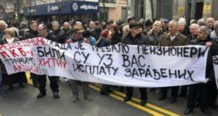 Радници ПKБ блокирали саобраћај у Београду, траже надокнаду за акције у Председништву Србије