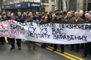 Пензионери и бивши радници ПKБ прете блокадом Београда ако им држава не исплати надокнаду за акције