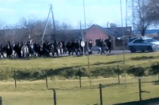 БАНАТ НА УДАРУ: Kолона миграната уз заштиту полиције ушла у село, наше становништво у шоку! (видео)