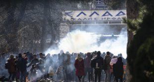 Сукоб полиције и миграната на граници са Грчком (видео)