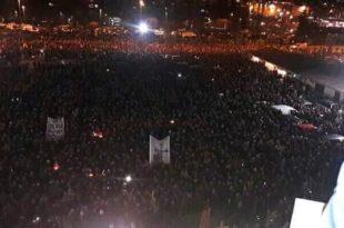 Најмасовније окупљање народа на једном месту у историји Подгорице (видео, фото)
