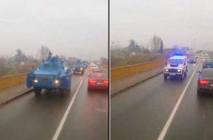 Колона оклопних возила полиције ушла у Подгорицу (видео)