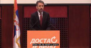 Србија нестаје пред нашим очима – Отрежњујући говор председника ДЈБ Саше Радуловића (видео)