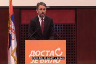 Србија нестаје пред нашим очима - Отрежњујући говор председника ДЈБ Саше Радуловића (видео)