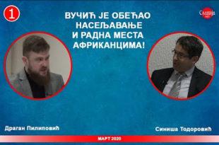 ДИЈАЛОГ: Д. Пилиповић и С. Тодоровић - Вучић је обећао насељавање Африканца у Србију! (видео)