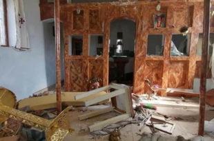 Мигранти уништили цркву Светог Ђорђа на Лезбосу: Иконе побацане, иконостас разбијен (фото, видео)