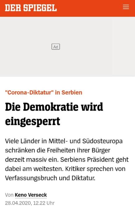 Немачки медији: Вучић закључао демократију у Србији
