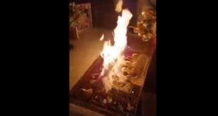 Силазак благодатног огња у Јерусалиму, 18.04.2020 (видео)