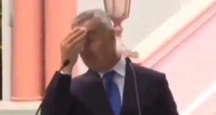 Наркоман Мило Ђукановић поново одваљен од кокаина, не може да престане да се зноји (видео)