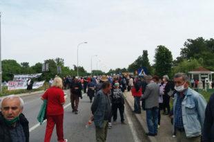 Бивши радници и пензионери саслушани у полицији због протеста испред ПКБ корпорације