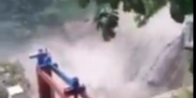 Пукла брана у Ивањици коју су неимари СНС секте реконструисали прошле године! (видео)