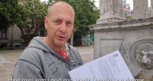 """""""ОВО ЈЕ ПЉАЧKА"""" Самохрани отац штрајковао глађу због извршитеља (видео)"""