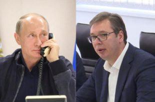 Путин Вучићу: Решење косовског проблема мора бити избалансирано и утврђено у СБ УН