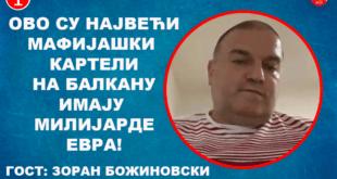 ИНТЕРВЈУ: Зоран Божиновски - Ово су највећи мафијашки картели на Балкану, имају милијарде! (видео)