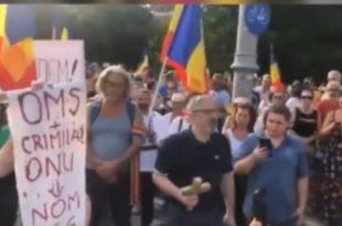 Протести у Букурешту против владе, карантина и у знак подршке Србима‼️! (видео)