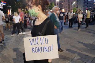 ПРОТИВ ВУЧИЋА устао народ широм Србије, у Нишу сели пред кордон! (видео)