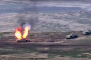 Оружани сукоб Јерменије и Азербејџана у Нагорно-Карабаху (видео)
