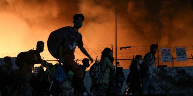 Пет миграната ухапшено због подметања пожара у кампу на Лезбосу