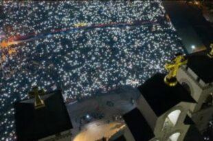 Оборен рекорд! Преко 80.000 људи на литији, највећи скуп који памти град Подгорица (видео)