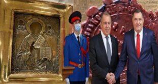 Додиков кабинет: Икона Св. Николе поклоњена Лаврову – није украдена и није ничије национално благо